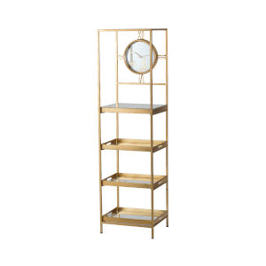 Polished Gold Free Standing Shelf