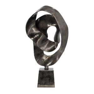 Smoke Black Abstract Aluminum Sculpture