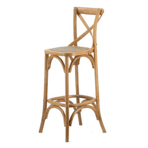 Natural Wood Bar Chair