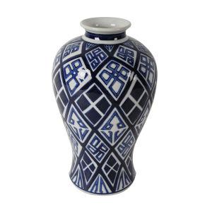 Valora Blue and White 13-Inch Vase