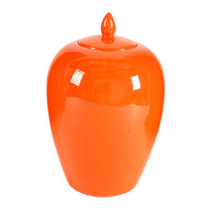 Modern Orange Lidded Jar, Large
