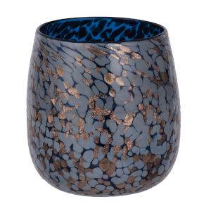 Shaylee Blue and Copper 6.5-Inch Vase