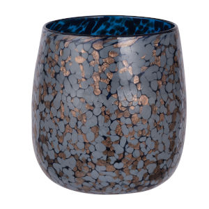 Shaylee Blue and Copper 8.5-Inch Vase