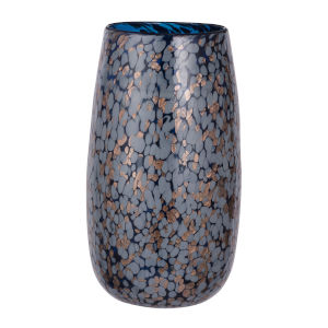 Shaylee Blue and Copper 12.5-Inch Vase