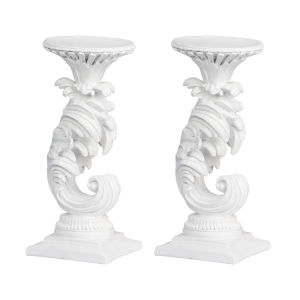 White Mermaid Candle Holder, Set of 2