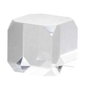 Clear Three-Inch Square Glass Cube Decorative Accessory
