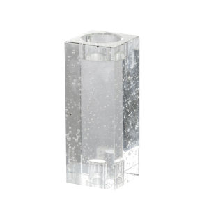 Clear Six-Inch Standard Glass Candle Holder