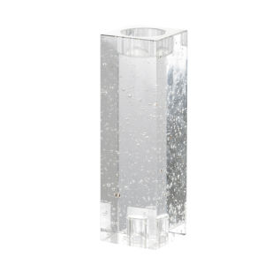 Clear Eight-Inch Standard Glass Candle Holder