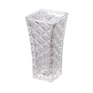Clear 12-Inch Glass Vase