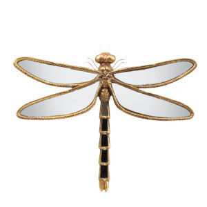 Antique Gold Dragonfly Accent Decor