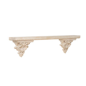 Antique White 47-Inch Wall Shelf
