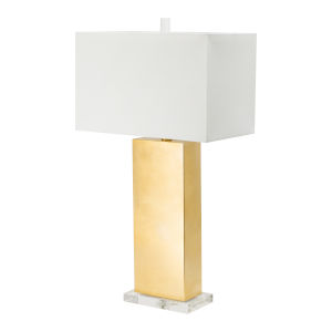 Gold and Clear One-Light Table Lamp