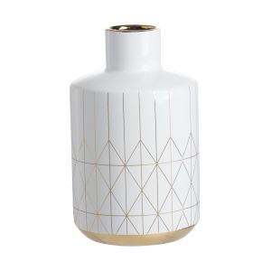 Gloss White and Gold Vase