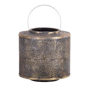 Raj Weathered Gold Lantern