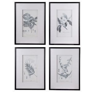 Black and White Faux Pencil Wall Art, Set of 4