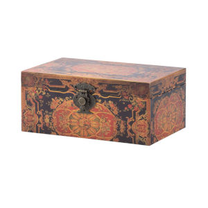 Multi-Colored 11-Inch Decorative Box ,Set of 2