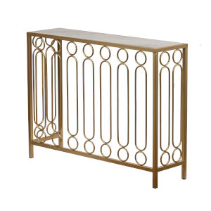 Polished Brass 37-Inch End Table