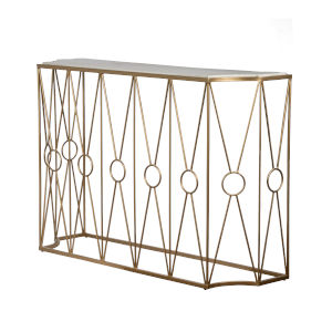 Polished Brass 47-Inch End Table