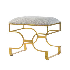 Gold Upholstered Bench