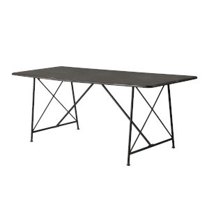 Antique Gray X-Leg Dining Table