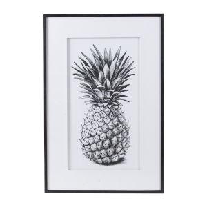 Multicolor Framed Pineapple Wall Art
