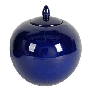 Gloss Blue Lidded Jar