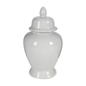 Seaford White Ceramic Jar with Lid