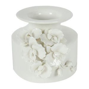 White Vase with White-on-White Detailing