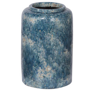 Firth Blue 8-Inch Vase
