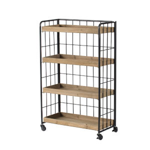 Matte Black 41-Inch Free Standing Shelf