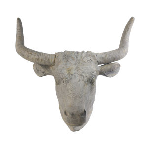Angus White Wash Horned Wall Art