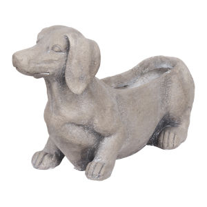 Manon Gray Dog Planter