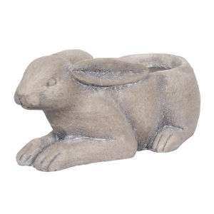 Manon Gray Rabbit Planter