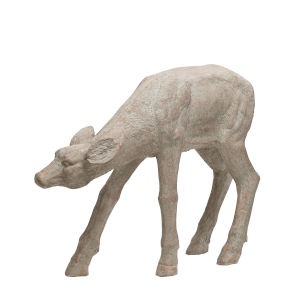 Cream Garden Naturalistic Deer Statuary