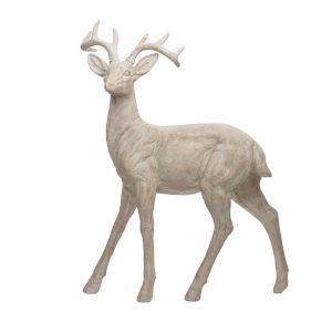 White Garden Naturalistic Deer Statuary