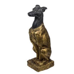 Black and Gold Dog Figurine