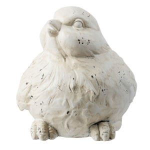 White 14-Inch Bird Figurine