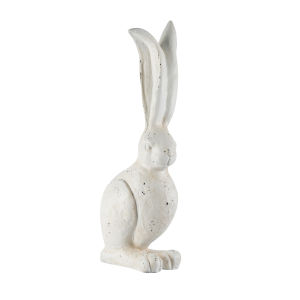 White 9-Inch Rabbit Figurine