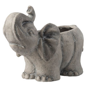 Gray Elephant Outdoor Planter