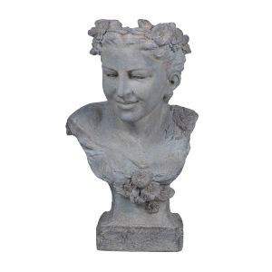 Gray Serene Garden Goddess Outdoor Planter