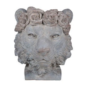 Gray Crown Lion Outdoor Planter
