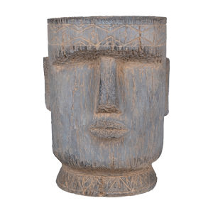 Gray Easter Island Statue Outdoor Planter