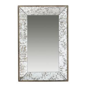 Silver Rectangular Wall Mirror