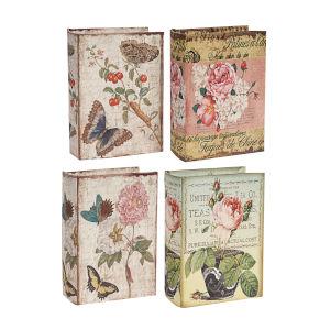 White And Multicolor Decorative Box, Set of 4