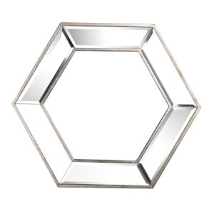 Kirby Silver Hexagon Wall Mirror