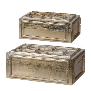 Gold Decorative Box, Set of 2