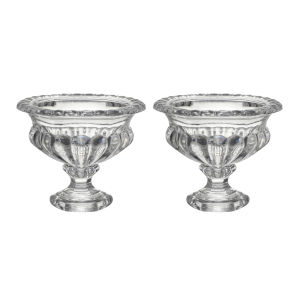 Omari Clear Crystal Display Bowl, Set of 2