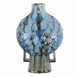 Blue and Green 16-Inch Vase