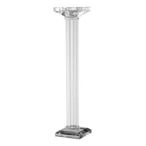 Clear 17-Inch Candle Holder