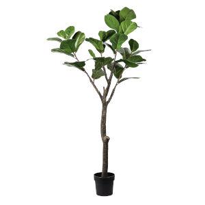 Green 59-Inch Poted Feddle Leaf Tree